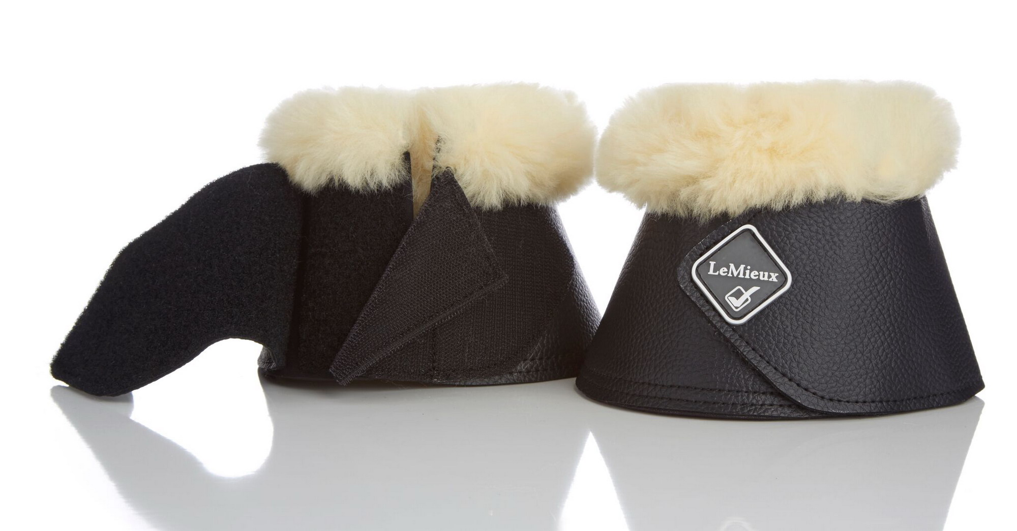 LeMieux Lambskin WrapRound Hufglocken mit Fell